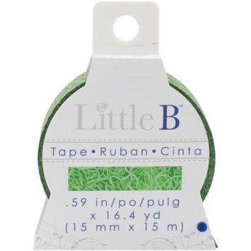 Little B LBT15mm-350 Little B Decorative Paper Tape 15mmx15m-Grass