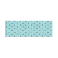 Little B Foil Tape 15Mmx10m-Silver Polka Dots