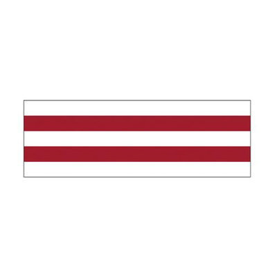 Little B Foil Tape 15Mmx10m-Red Mono Stripe