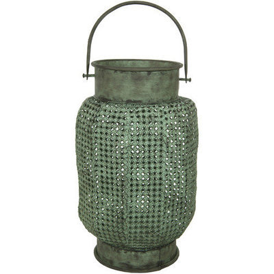 Oriental Furniture Perforated Decorative Hanging Lantern