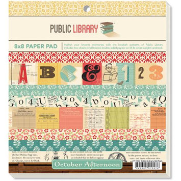 October Afternoon Paper Pad 8X8 24/Pkg-Public Library