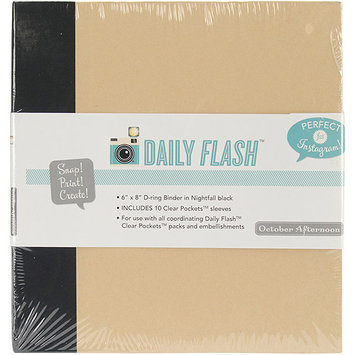 October Afternoon 6X8AB-1071 Daily Flash D-Ring Binder Album 6 in. X8 in-Vol. 1 Seashore