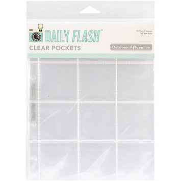 October Afternoon 6X8SL-1074 Daily Flash Pocket Sleeve Protectors 6 in. X8 in. 10-Pkg-Holds - 23 in. X4 in. & - 1 6 in. X4 in.