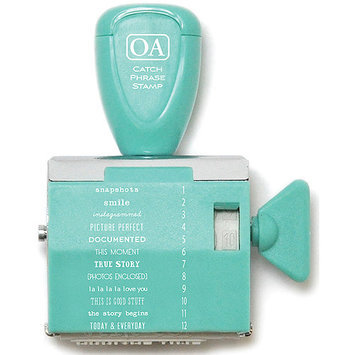 October Afternoon CPRST-1086 Daily Flash Catch Phrase Roller Stamp-Vol. 1 Travel