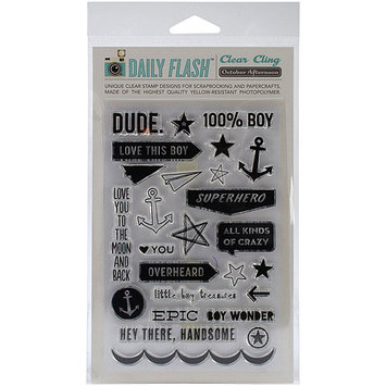 October Afternoon Daily Flash Stamp Set-Hey Girl