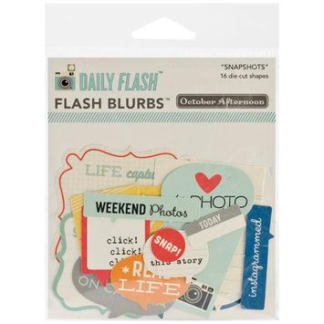 October Afternoon Daily Flash Snapshots Cardstock Die-Cuts-Flash Blurbs 16/Pkg