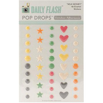 October Afternoon EM1153 Daily Flash Milk Money Epoxy Stickers-Pop Drops