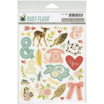 October Afternoon SS1306 Daily Flash Girl Talk Double Take Stickers-Shapes & Labels