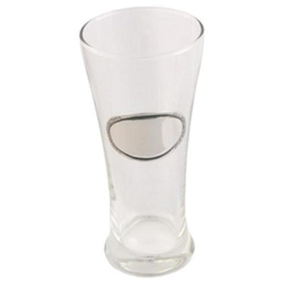 Visol Kendall Pilsner Glass with Pewter Engraving Plate - VAC402