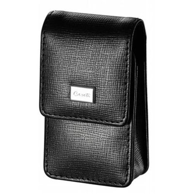 Caseti Etch Black Leather Weave Pattern Lighter Case