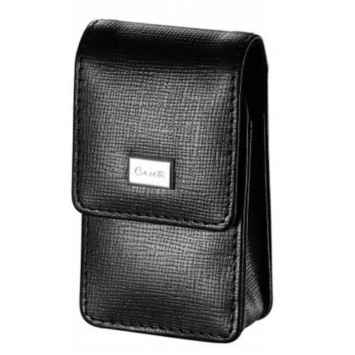 Caseti Etch Black Leather Weave Pattern Lighter Case