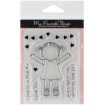 My Favorite Things PI214 My Favorite Things Pure Innocence Stamps 3 in. X4 in. Sheet-Love Is In The Air