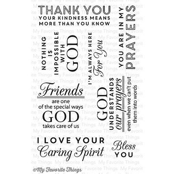 My Favorite Things LJD36 My Favorite Things Lisa Johnson Designs Stamps 4 in. x 6 in. Sheet-Words Of Inspiration