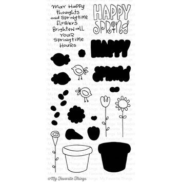 My Favorite Things SDD7 My Favorite Things Sunny Day Doodles Clear Stamp 4 in. X8 in. Sheet-Spring Has Sprung