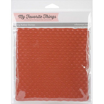 My Favorite Things Background Cling Rubber Stamp 6inX6inSwiss Dots