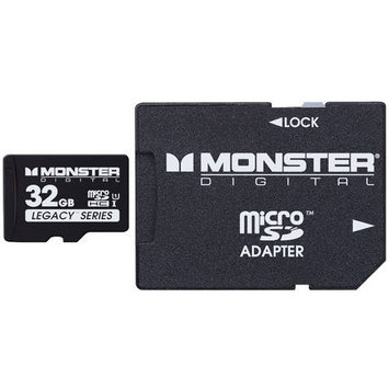 Monster Cable 32GB SDHC Micro SD Memory Card