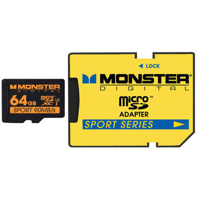 Monster Cable 64GB SDXC Micro Card Sport90