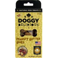 Doggy Delirious Natural Dog Treats Peanut Butter Bones 1.5 oz