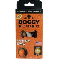 Doggy Delirious Natural Dog Treats Pumpkin Bones - 1.5 oz