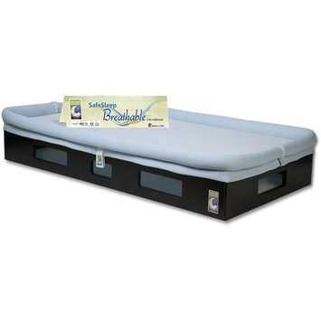 Secure Beginnings SafeSleep Crib Mattress - Espresso/Light Blue