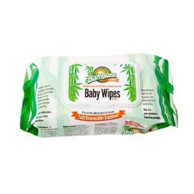 Bum Boosa Bamboo Products Baby Wipes - 24 Bulk Case 1920 Count
