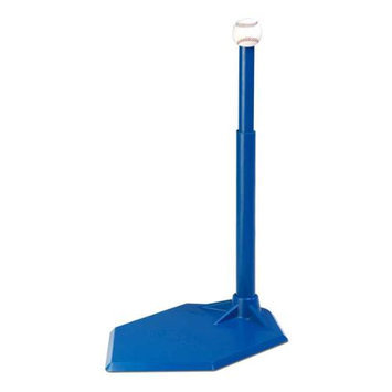 Fall Line Single Position Batting Tee w Height Adjustment in Blue