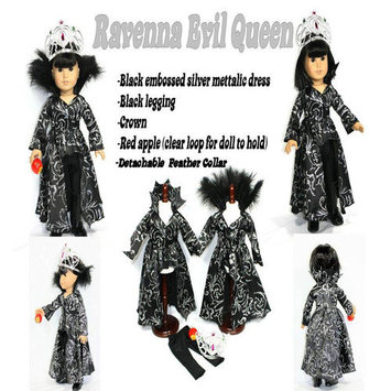 Arianna Ravena Evil Queen 4 Piece Doll Outfit Set