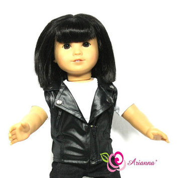 Arianna Vegan Faux Leather Vest Fits 18