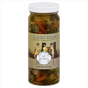 Linguini Sisters 16 oz. Giardiniera Hot Pickel - Case Of 6
