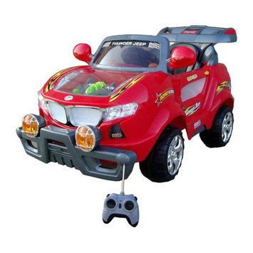Best Ride On Cars 6V Thunder Jeep with Moving Engine