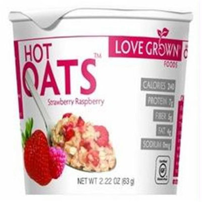 Love Grown Foods Hot Oats Strawberry Raspberry 2.22 oz