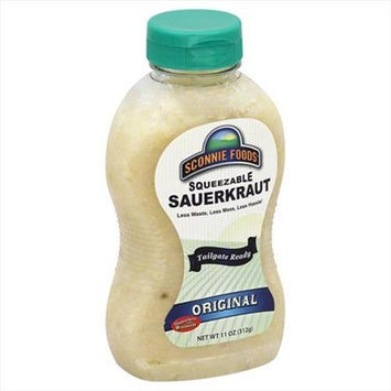 Sconnie Foods 11 oz. Squeezable Sauerkraut Original Case Of 12