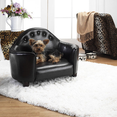 Q10 Products Enchanted Home Pet Black Headboard Pet Bed