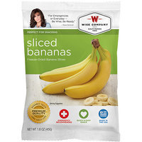 Wise Company Freeze-Dried Sliced Bananas, 1.6 oz
