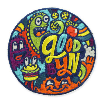 Goodbyn Monster by Chris Piascik Peel-n-Stick Embroidered Patch