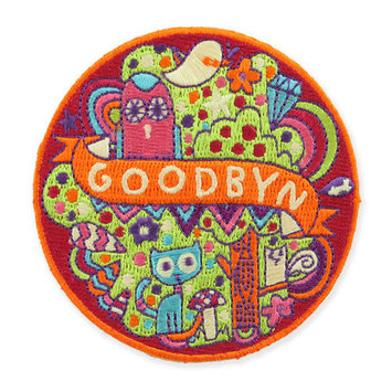 Goodbyn Kitten by Steph Baxter Peel-n-Stick Embroidered Patch