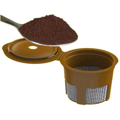 Cafejo Single Cup Ground Coffee Adaptor for Keurig, Black