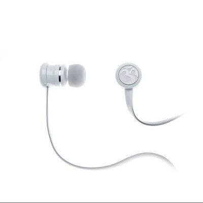 OM AUDIO INEARPEACE White In-ear Headphone w/Mic and Remote for Apple