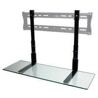 Simple Shelving Solutions 36 Black Glass Tv Smartshelf