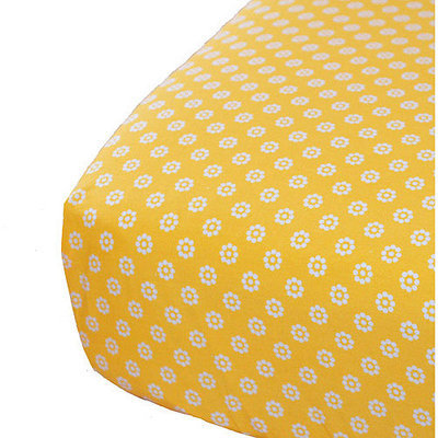 Oliver B Baby Crib Sheet Yellow Mod Dots