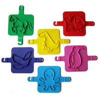 NewMetro Design Beach 6 Piece Animals Stamp Set