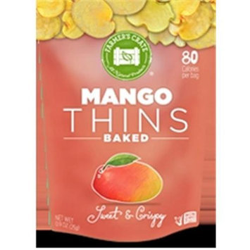 Farmers Crate Gluten Free Baked Fruit Thins Mango - 0.9 Ounce Pack of 8
