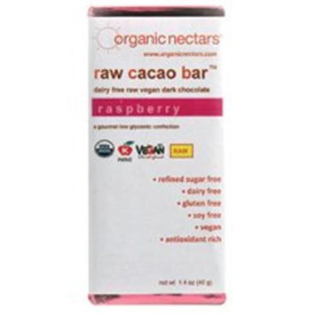 Organic Nectars Raw Cacao Bar Raspberry - 1.4 oz - Vegan
