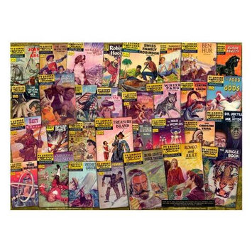 Atlantis Toy & Hobby Atlantis Toy and Hobby Classics Illustrated Literary Classics Collage 1000 Piece Puzzle