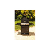 Pacific Living, Inc. Pacific Living Black Powder Coat Protected Outdoor Gas Oven with Cart