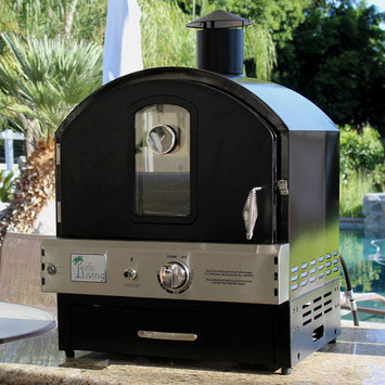 Pacific Living, Inc. Pacific Living Black Powder Coat Protected Outdoor Gas Oven