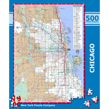 Tnt Media Group Chicago Subway 500 Piece Jigsaw Puzzle