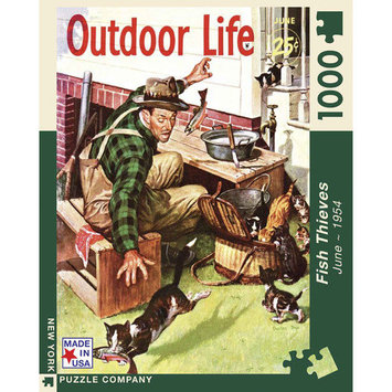 New York Puzzle Company Fish Thieves Outdoor Life 1000 Piece Puzzle