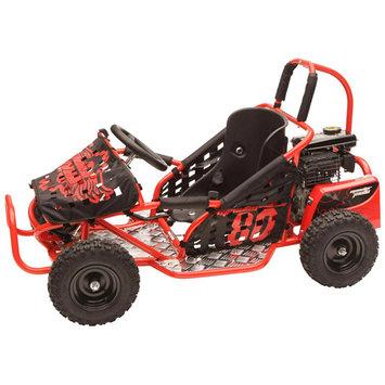 Monster Moto Go-Karts 79.5cc Youth Go-Kart in Red MM-K80R