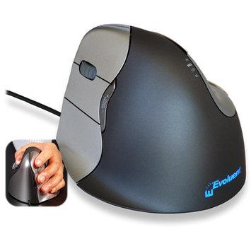 Prestige International Inc. Prestige - Evoluent VM4 Vertical Left-Handed Mouse - Black/Silver